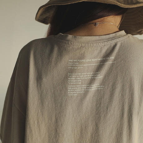 2color: Back Logo Over T-shirts 90203   送料無料