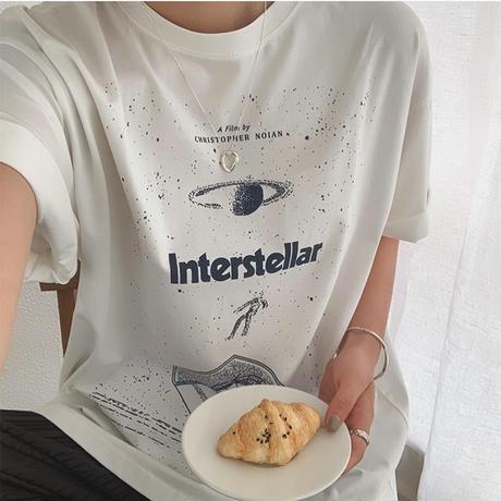 2color: Universe Design Print T-shirts 90207   送料無料