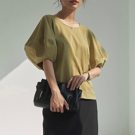 2color : Lantern sleeve tops 90296 送料無料