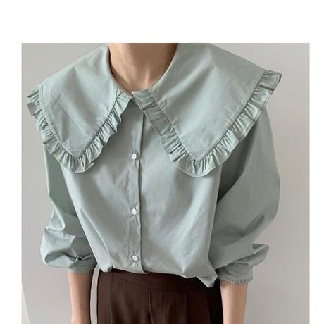 3color : Big Collar Shirts 90300 送料無料
