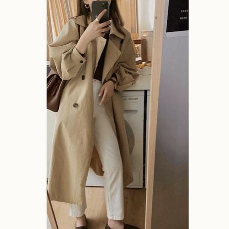 Dolman Sleeve Long Trench Coat 90227
