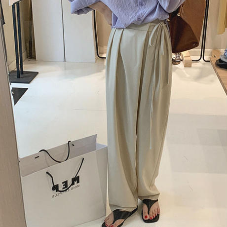 2color : Waist Tie Wrap Pants 90206 送料無料