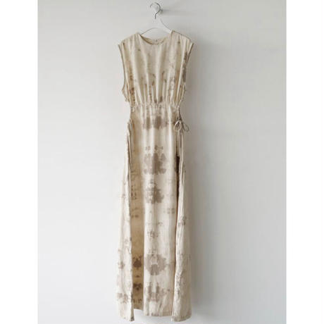 Tie-dye Side Open Dress 90219 送料無料