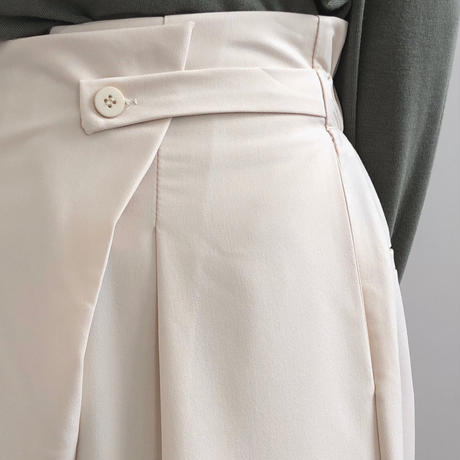 2color: Button Tack Wide Pants 90231 送料無料
