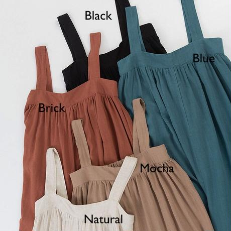 5color: Linen Blend All in one 90208    送料無料