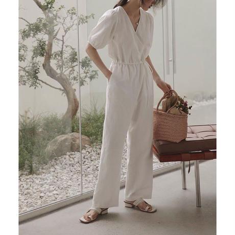 2color : Cotton Linen Cache-coeur Combinaison 90216 送料無料