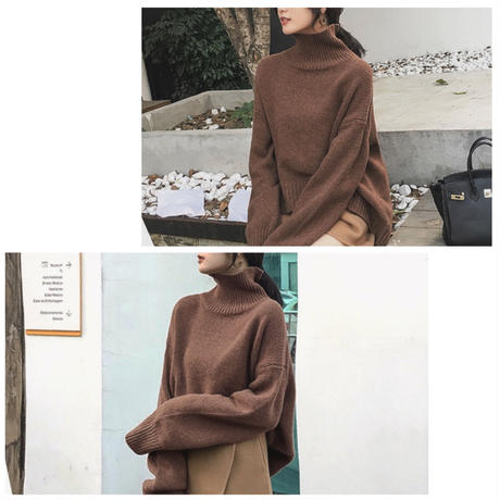4color: Roundhem High neck Knit  送料無料 140