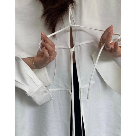 Back Open  Tie Loose Shirts 90301 送料無料