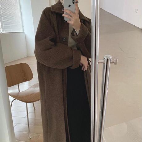 《Brown》Soutien Collar Wool Coat 90260 送料無料