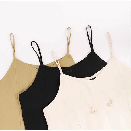 3color: Drawstring Cami One-pieace 90210 送料無料
