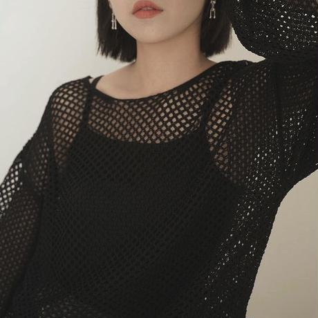 2color : Mesh Pullover 90212 送料無料