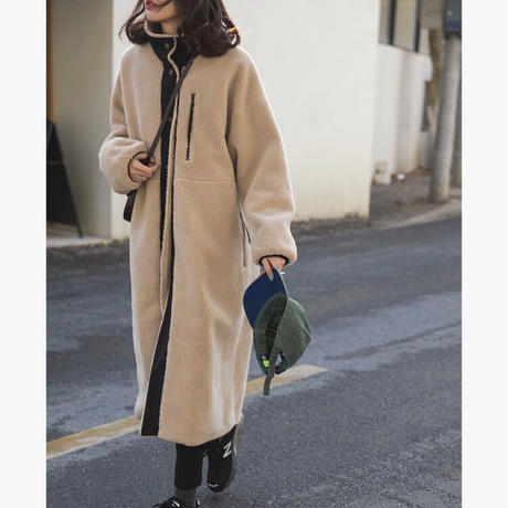 Piping Boa Long Coat 90251  送料無料