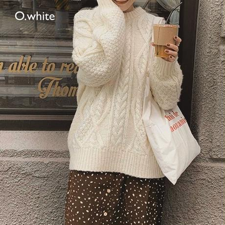 New color追加! 5color : Loose Aran Knit 送料無料 137