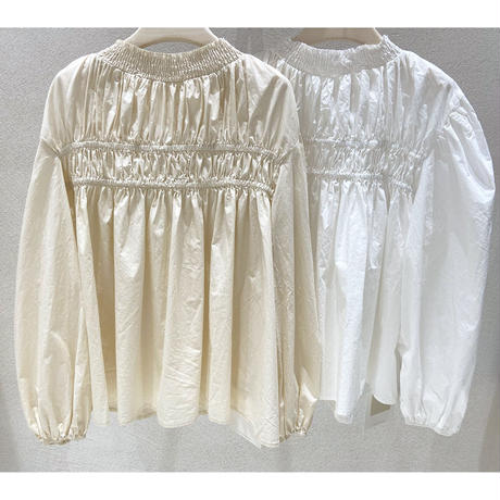 2color : Volume Shirring  Blouse 90226 送料無料