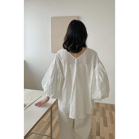 2color : Tie neck  Volume sleeve Blouse 90290 送料無料
