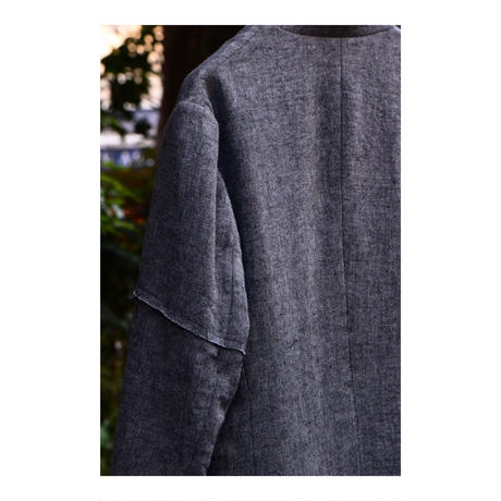 "WILDFRÄULEIN71 2020-21 f/w ""vintage blackchambray wool jacket"""