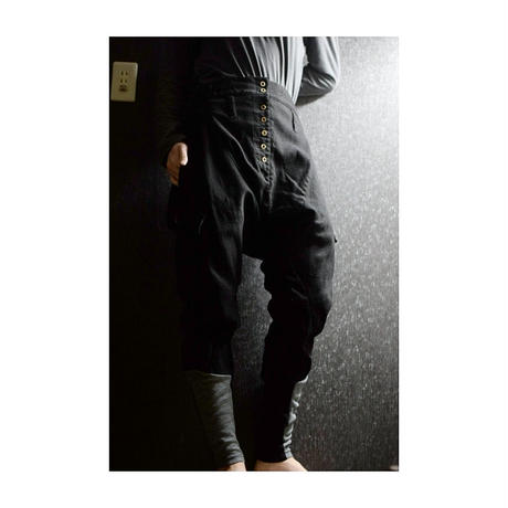 "Roop fret ""three-dimensions jersey trouser"""