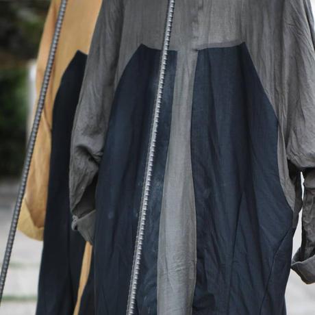 """WILDFRÄULEIN71 """"japonism haori coach jacket"""" black and beige"""