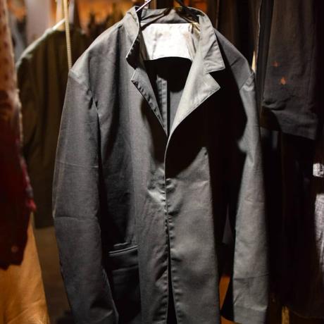 "Jobi fret roop 2021-22 f/w ""Black × Green Silk chambray amish tailored jacket"""