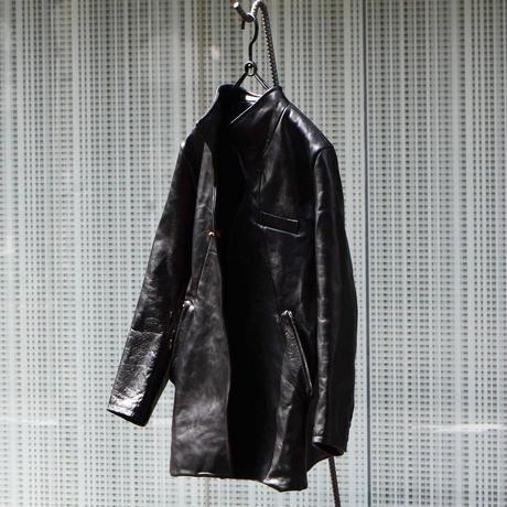 "Jobi fret roop ""leather architecture tailored jacket"""