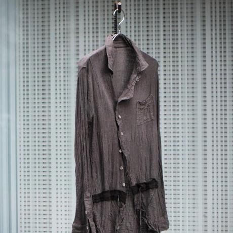 "Subtile 2021 s/s collection look.3 ""gauze shirt"""
