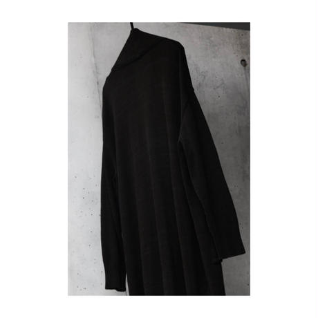"WILDFRÄULEIN71 ""silk knit long cardigan black ver"""