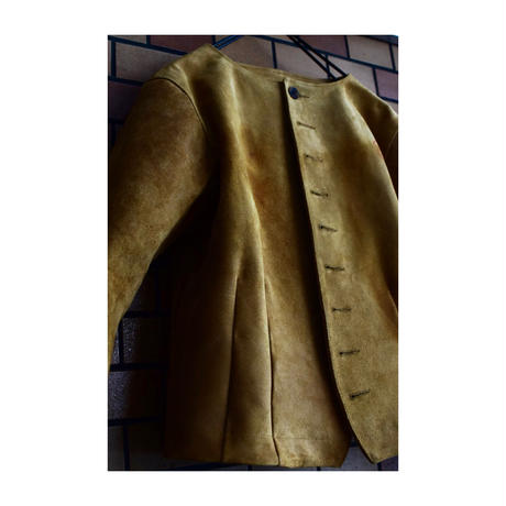 "Jobi fret roop ""nuback swead leather victorian jacket"" 1点物"