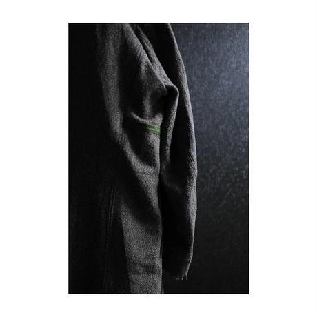 "Roop fret ""silk × wool chester coat"""