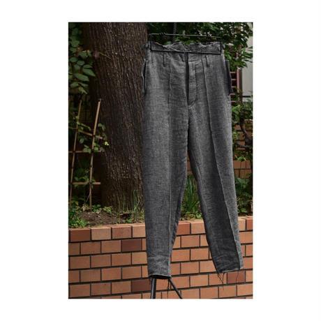 """WILDFRÄULEIN71 2020-21 f/w """"vintage blackchambray wool trouser """""""