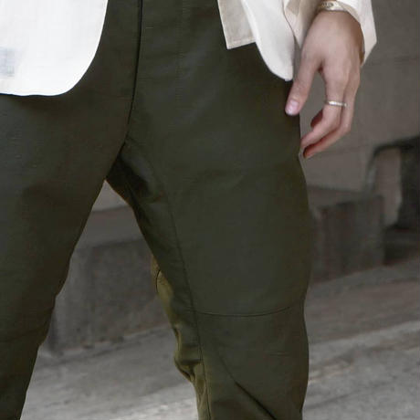 """WILDFRÄULEIN71 2021s/s """"Architecture british military rubberized pants"""""""
