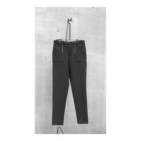 "WILDFRÄULEIN71 2020-21 f/w ""double zip straight wool pants"""