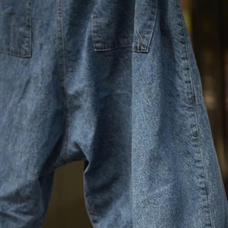 "Jobi fret roop ""Light oz vintage indigo denim short pants"""