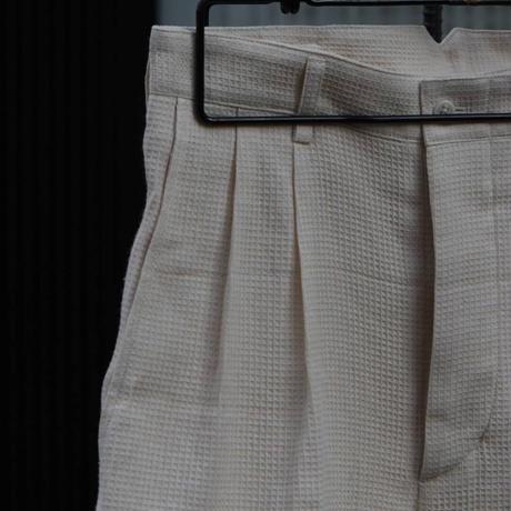 "WILDFRÄULEIN71 ""waffle 2tuck slacks trousers"""