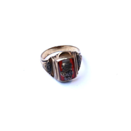 American 1955's 10k gold with garnet ring