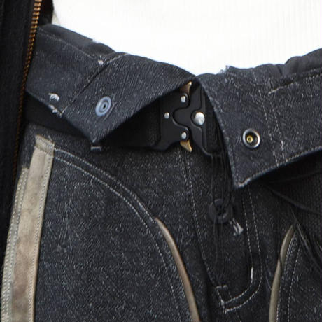"Jean van Griniche ""Tear weave high waist trouser black"""
