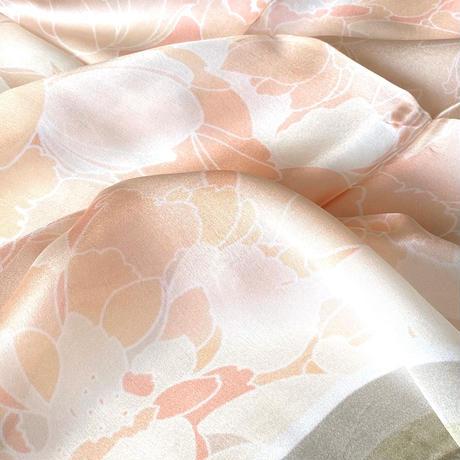 ダニエラコレクション イタリア製コモシルクスカーフ フローラル 85x85