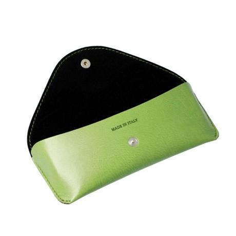 バルサンティ イタリア製 ソフトメガネケース オリーブグリーン