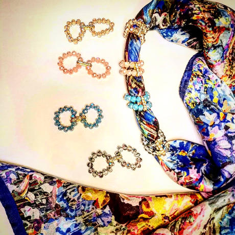 バルサンティ イタリア製 スカーフリング   ブルー