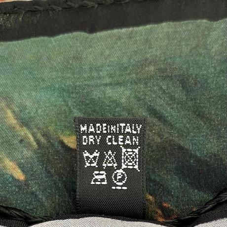バルサンティ イタリア製コモシルクスカーフ コモ湖 ブラック 85x85