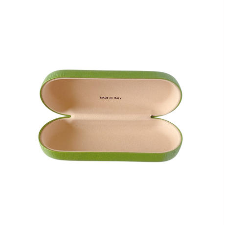 バルサンティ イタリア製 ハードメガネケース オリーブグリーン