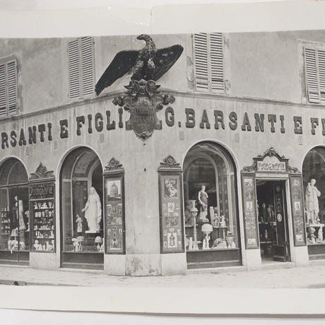 バルサンティ イタリア製 コモ シルクスカーフ バタフライ ネイビー 小判 50x50