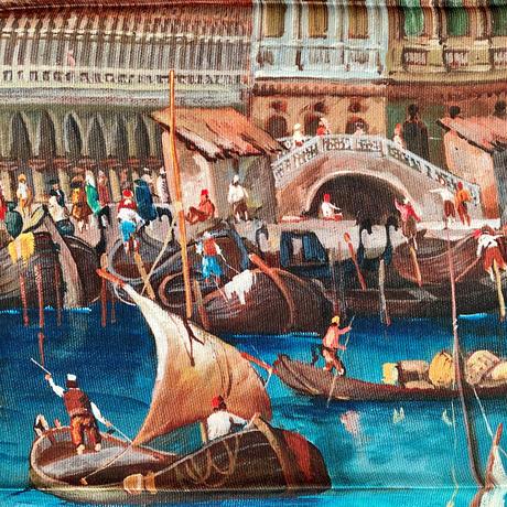 バルサンティ イタリア製コモシルクスカーフ ベネツィア 85x85