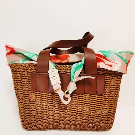 バルサンティ イタリア製 スカーフネックレス(ラインストーンフック)ガーディニア