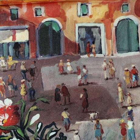 バルサンティ イタリア製 コモシルクスカーフ シチリア 小判 50x50