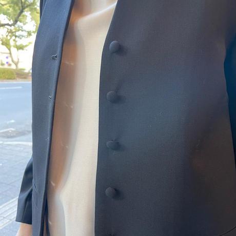 Porter des boutons / 強撚クロスバックフレアジャケット