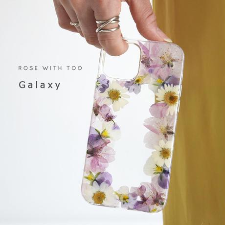 Galaxy /   押し花スマホケース  210421_2