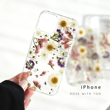 iPhone /   押し花スマホケース 2019043_4