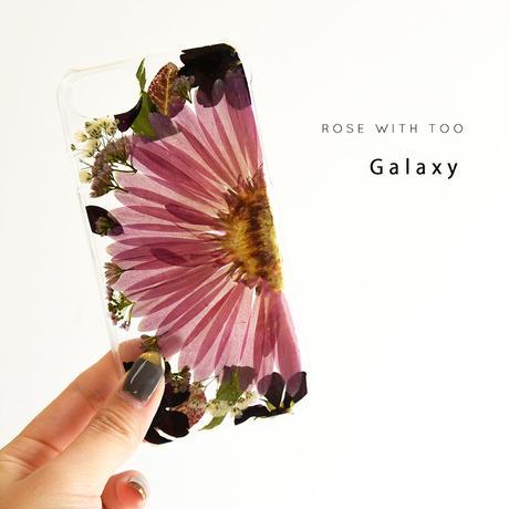 【リング不可】Galaxy /   押し花スマホケース  200909_4