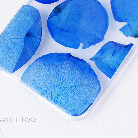 押し花iPhoneケース 0704_4 blue rose