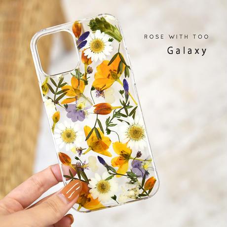 Galaxy /   押し花スマホケース  210519_4